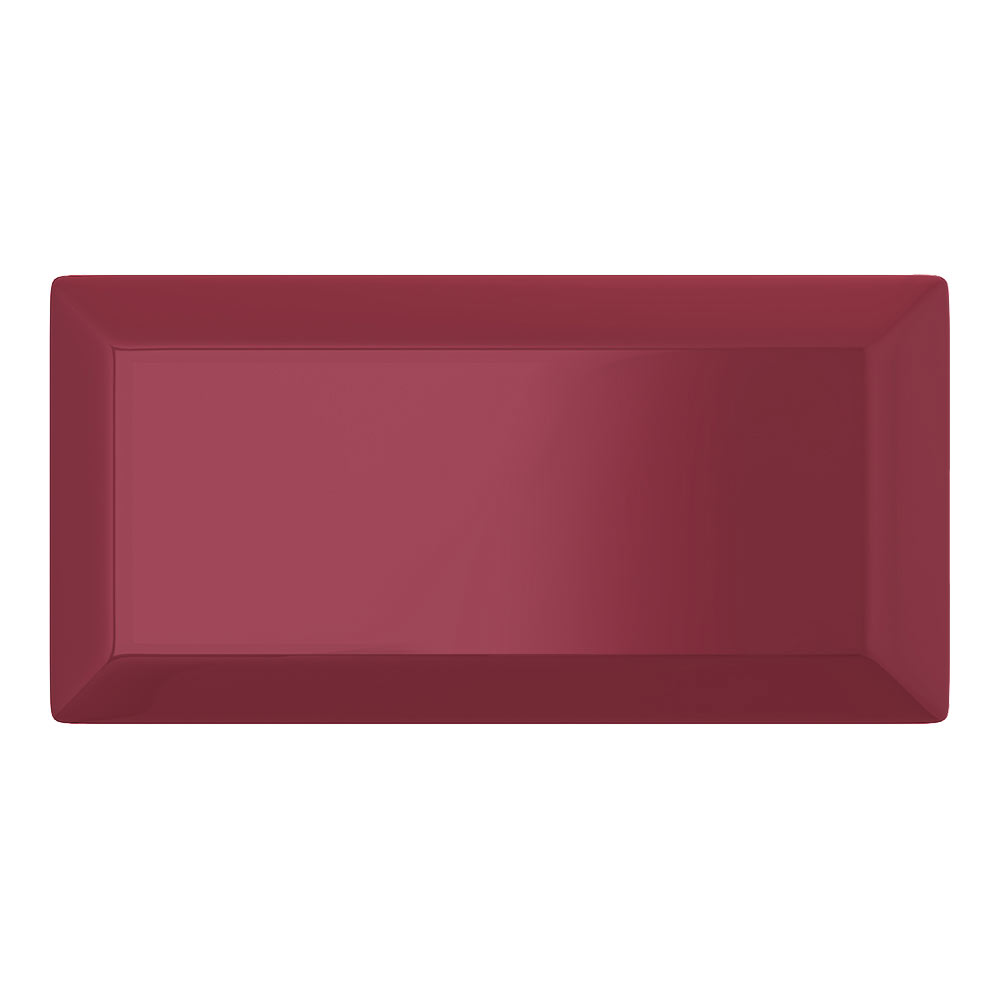 Victoria Metro Wall Tiles - Gloss Wine - 20 x 10cm Large Image