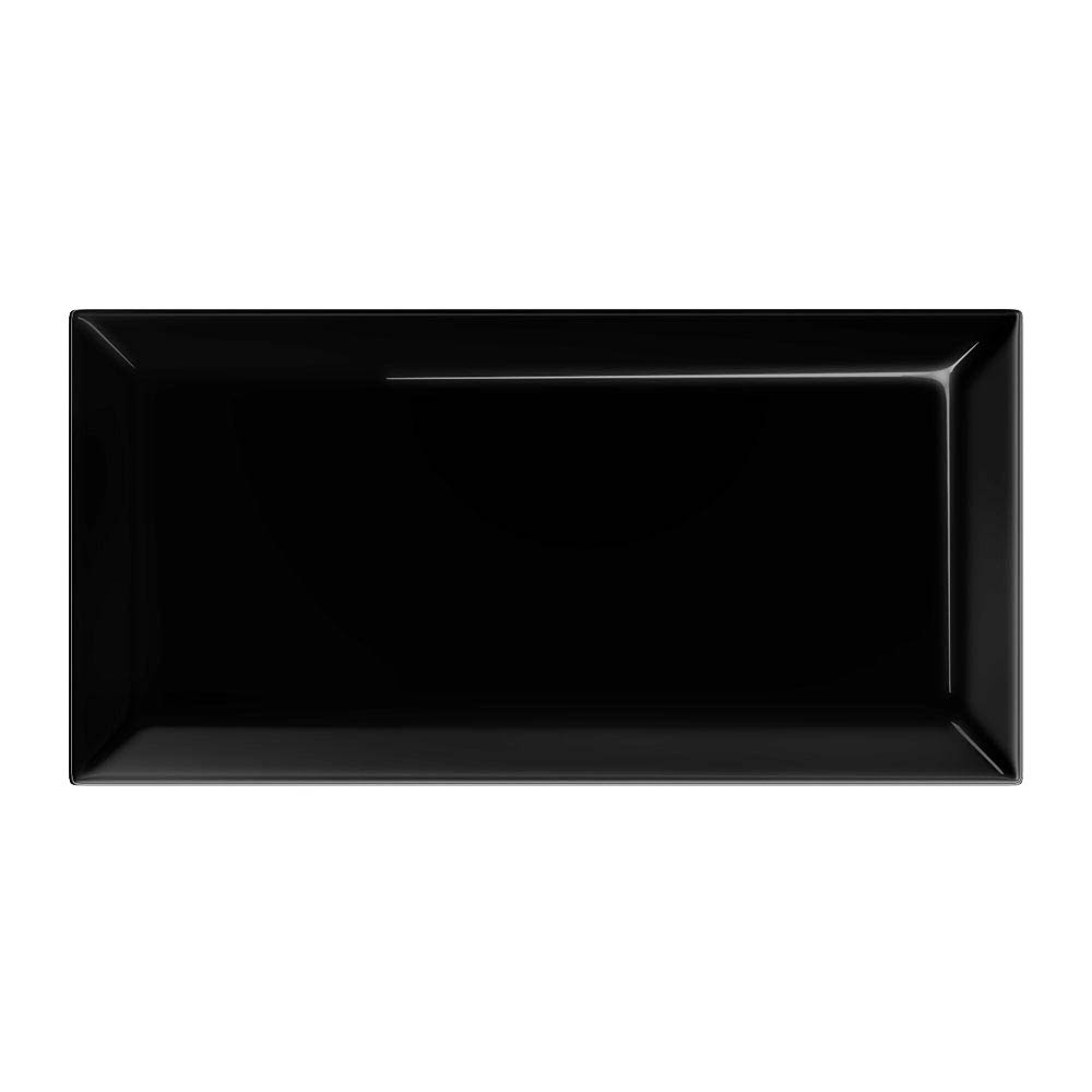 Victoria Metro Wall Tiles - Gloss Black - 20 x 10cm  Profile Large Image