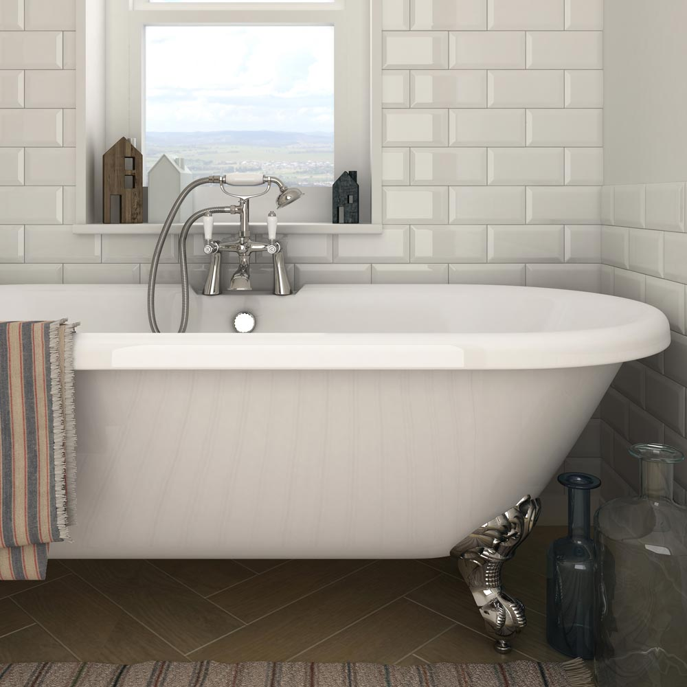 Victoria Metro Wall Tiles - Gloss Cream - 20 x 10cm Feature Large Image