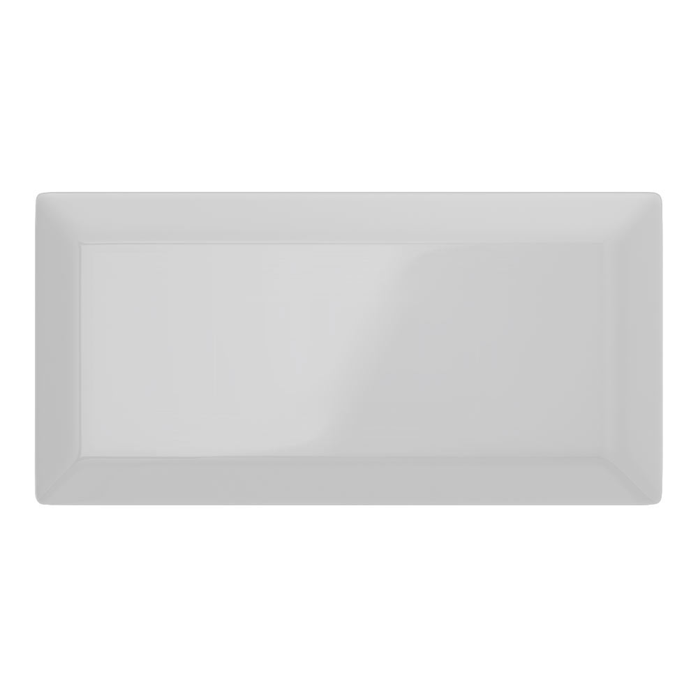 Victoria Metro Wall Tiles - Gloss Light Grey - 20 x 10cm Large Image