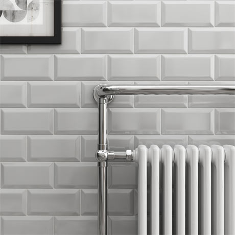 Victoria Metro Wall Tiles - Gloss Light Grey - 20 x 10cm