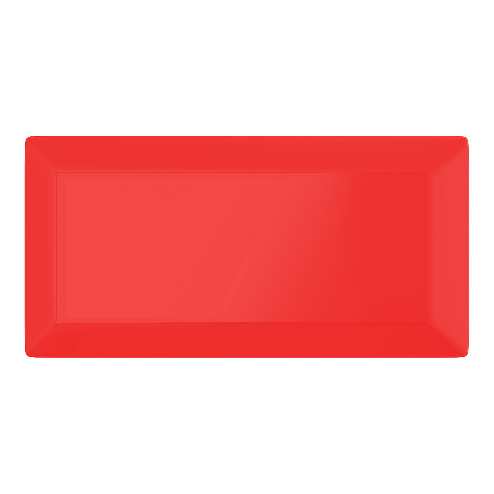 Victoria Metro Wall Tiles - Gloss Red - 20 x 10cm Large Image