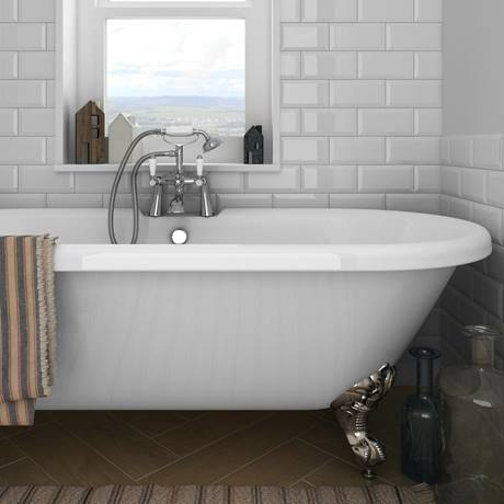 Victoria Gloss White Metro Tile | Victorian Plumbing