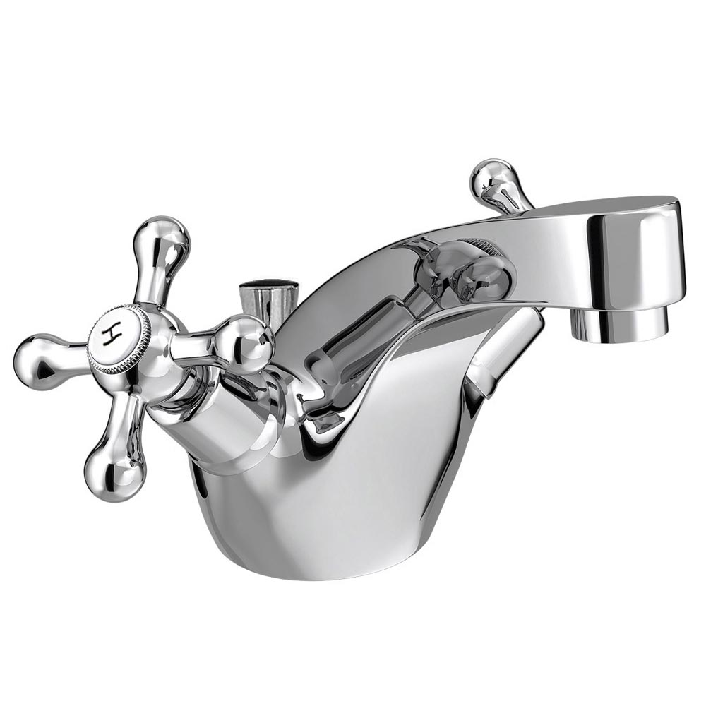Victoria Traditional Mono Basin Mixer Tap + Pop-Up Waste profile large image view 1