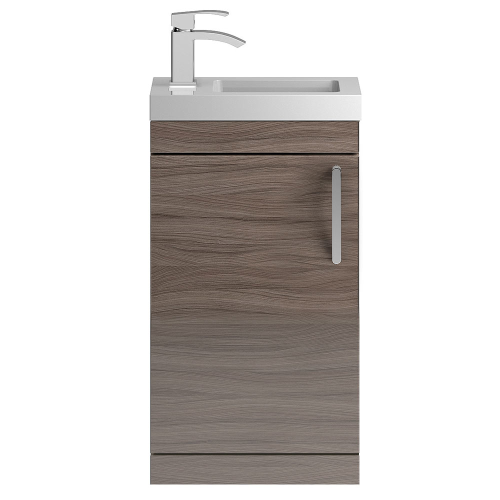 Vienna 400mm Floor Standing Vanity Unit (Driftwood - Depth 255mm) profile large image view 1