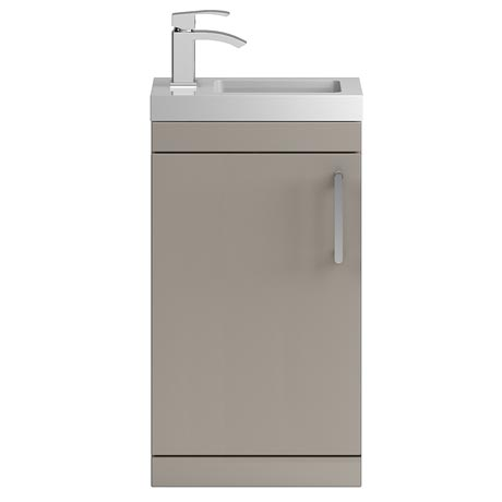 Vienna 400mm Floor Standing Vanity Unit (Stone Grey - Depth 255mm)