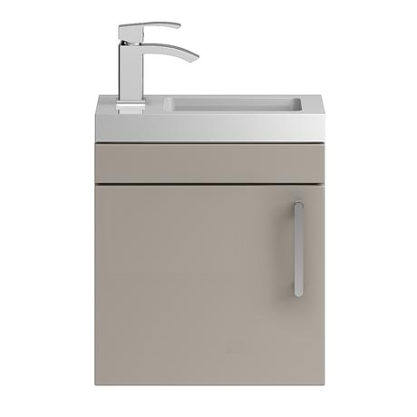 Vienna 400mm Wall Hung Vanity Unit (Stone Grey - Depth 255mm)