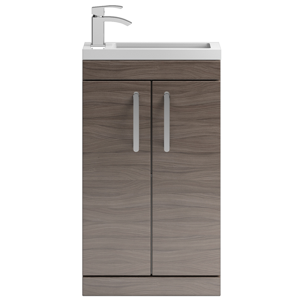 Vienna 500mm Floor Standing Vanity Unit (Driftwood - Depth 255mm) profile large image view 1