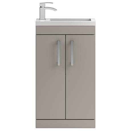 Vienna 500mm Floor Standing Vanity Unit (Stone Grey - Depth 255mm)
