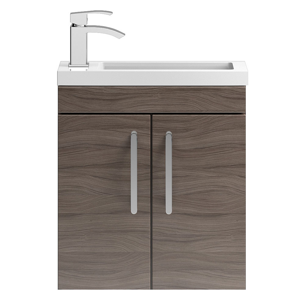 Vienna 500mm Wall Hung Vanity Unit (Driftwood - Depth 255mm) Large Image