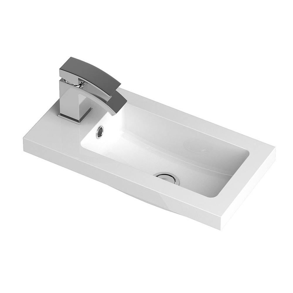 Vienna 500mm Wall Hung Vanity Unit (Stone Grey - Depth 255mm) profile large image view 2