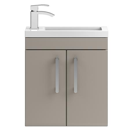 Vienna 500mm Wall Hung Vanity Unit (Stone Grey - Depth 255mm)