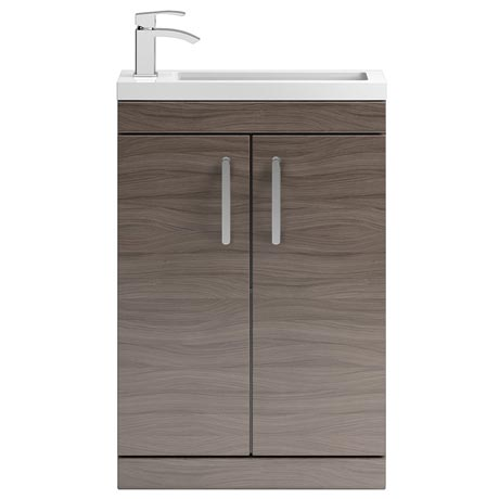 Vienna 600mm Floor Standing Vanity Unit (Driftwood - Depth 255mm)