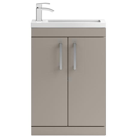 Vienna 600mm Floor Standing Vanity Unit (Stone Grey - Depth 255mm)