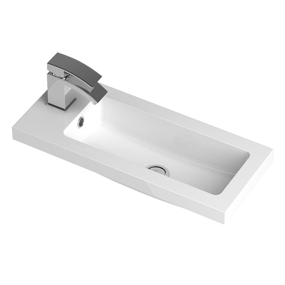 Vienna 600mm Wall Hung Vanity Unit (Stone Grey - Depth 255mm) profile large image view 2