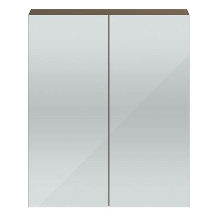 Vienna Double Door Mirrored Cabinet (Driftwood - 600mm Wide) Large Image
