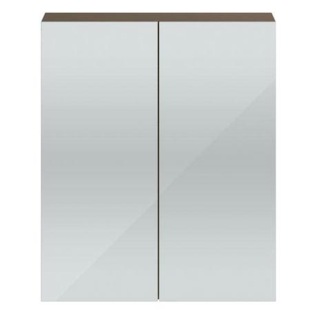 Vienna Double Door Mirrored Cabinet (Driftwood - 600mm Wide)