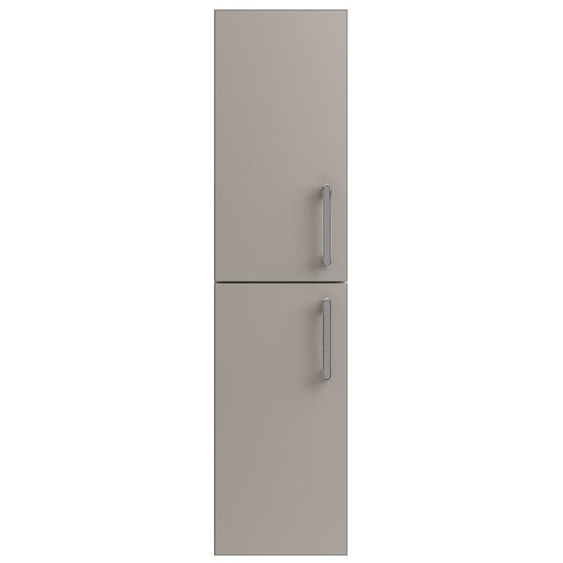 Vienna Double Door Wall Hung Unit (Stone Grey - 1435mm High) Large Image