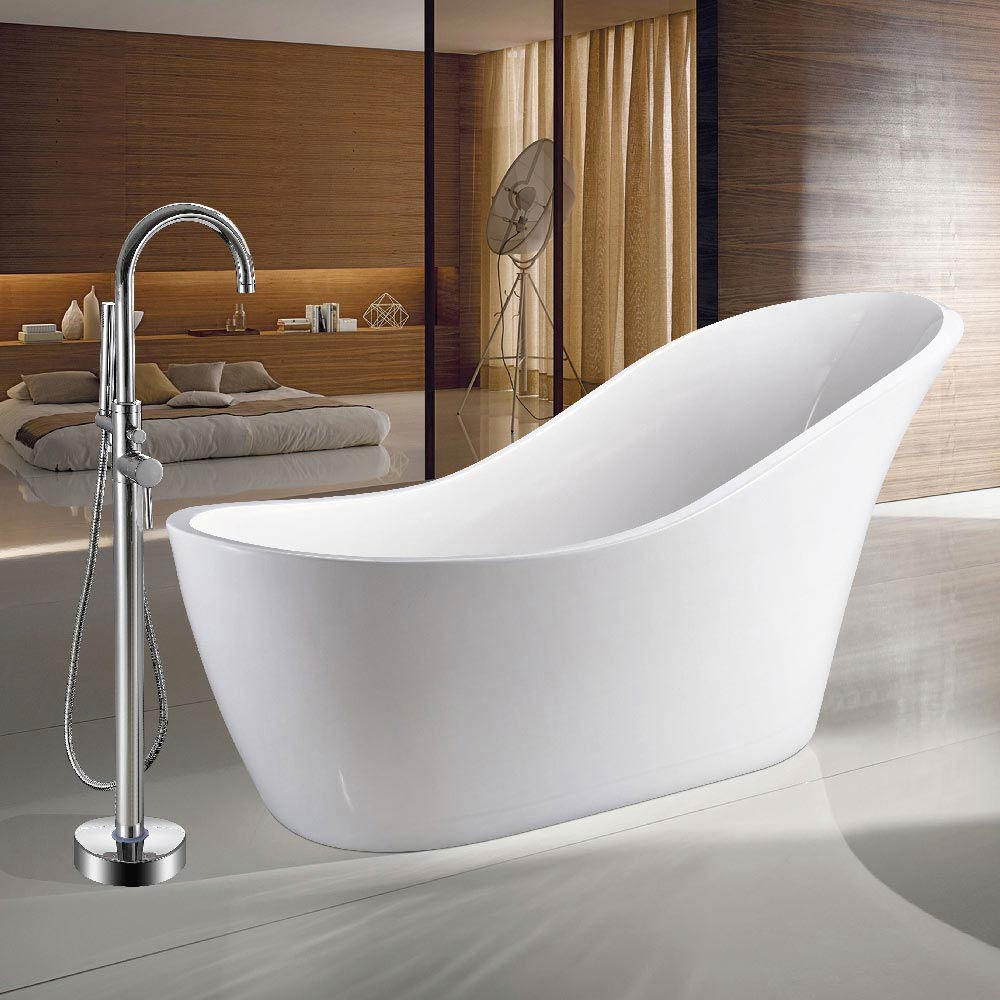 Vienna 1730 Modern Slipper Free Standing Bath profile large image view 1