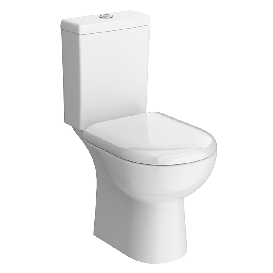 Vienna Short Projection Cloakroom Toilet with Seat Large Image