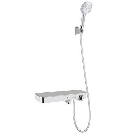 Vista Modern Wall Mounted Thermostatic Bath Shower Mixer with Shelf
