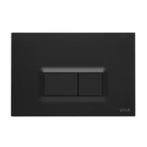 Vitra Loop R Mechanical Flush Plates for 12cm WC Frames - Matt Black Medium Image