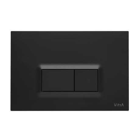 Vitra Loop R Mechanical Flush Plates for 12cm WC Frames - Matt Black