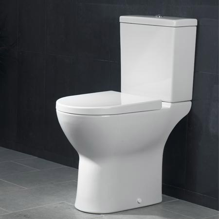 Vitra - S50 Model Comfort Height Close Coupled Toilet (open back) profile large image view 2