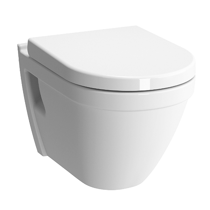 Vitra S50 Rimless Wall Hung Toilet with Seat Large Image