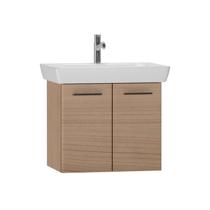 Vitra - S20 Model Vanity Unit & 1TH Basin - 65cm - Dark Cherry Large Image