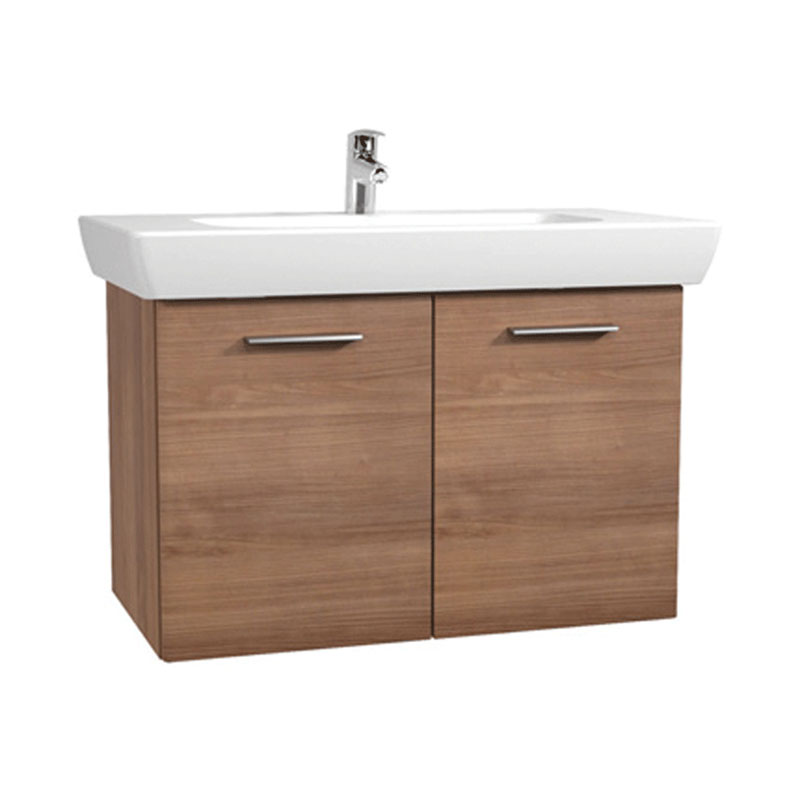 Vitra - S20 Model Vanity Unit & 1TH Basin - 85cm - Dark Cherry profile large image view 1