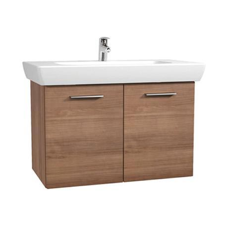 Vitra - S20 Model Vanity Unit & 1TH Basin - 85cm - Dark Cherry