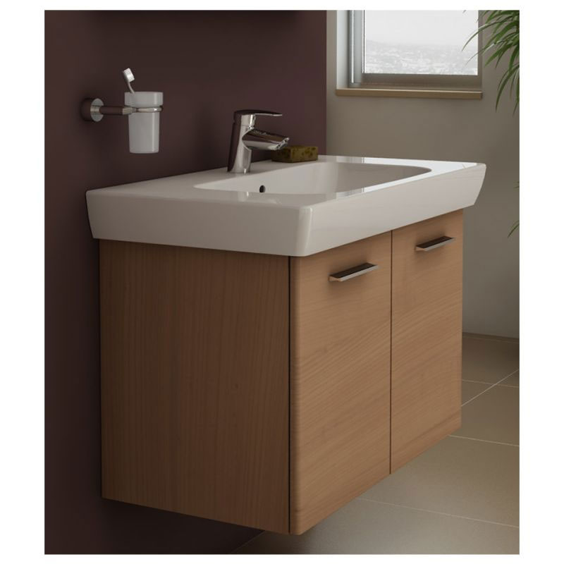 Vitra - S20 Model Vanity Unit & 1TH Basin - 85cm - Dark Cherry profile large image view 2