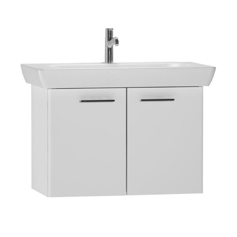 Vitra - S20 Model Vanity Unit & 1TH Basin - 85cm - High Gloss White Large Image