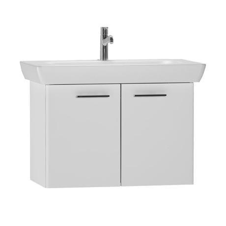 Vitra - S20 Model Vanity Unit & 1TH Basin - 85cm - High Gloss White