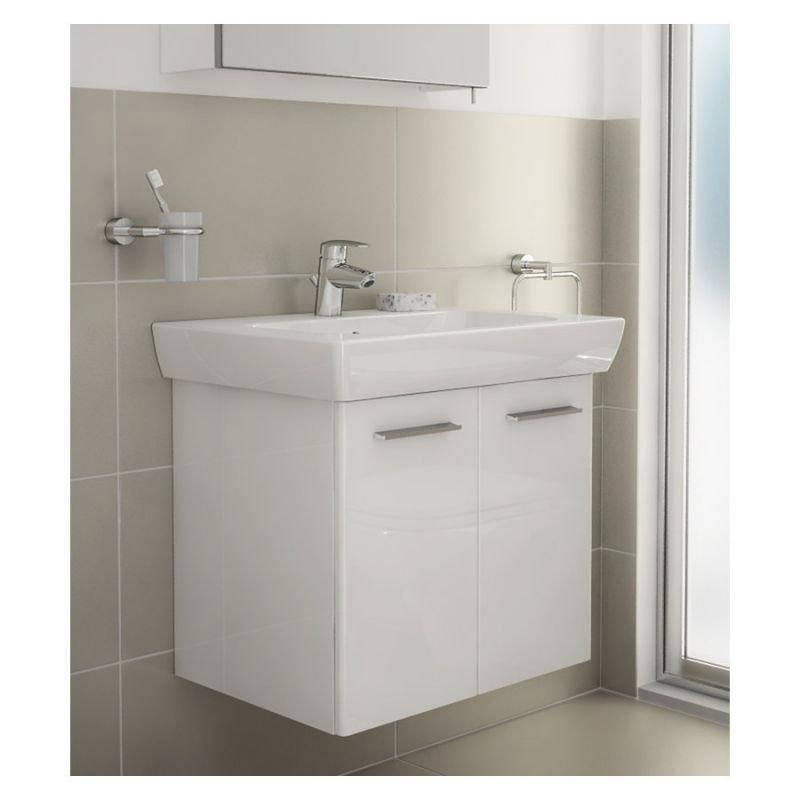 Vitra - S20 Model Vanity Unit & 1TH Basin - 65cm - High Gloss White profile large image view 2