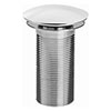 Bristan Round Unslotted Clicker Basin Waste - Chrome profile small image view 1