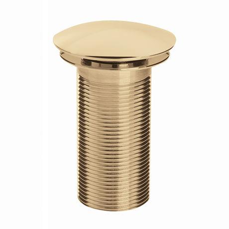 Bristan Round Unslotted Clicker Basin Waste - Gold