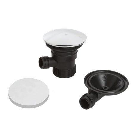 Bristan - Round Clicker Bath Waste with Overflow - W-BATH03-C