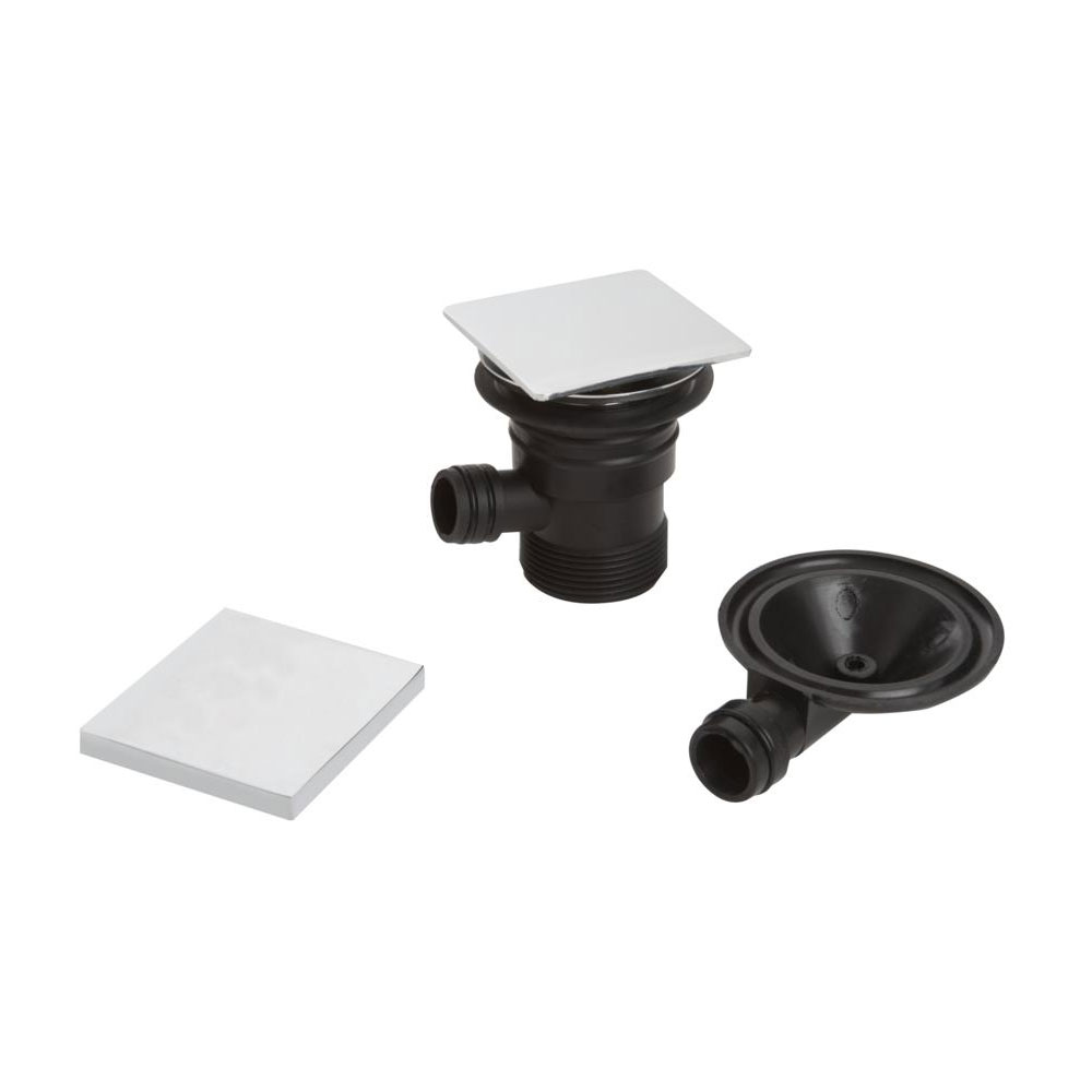 Bristan - Square Clicker Bath Waste with Overflow - W-BATH04-C Large Image