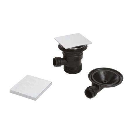 Bristan - Square Clicker Bath Waste with Overflow - W-BATH04-C