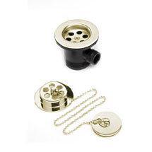 Bristan - Economy Bath Waste with Brass Plug - Gold - W-BATH02-G Medium Image