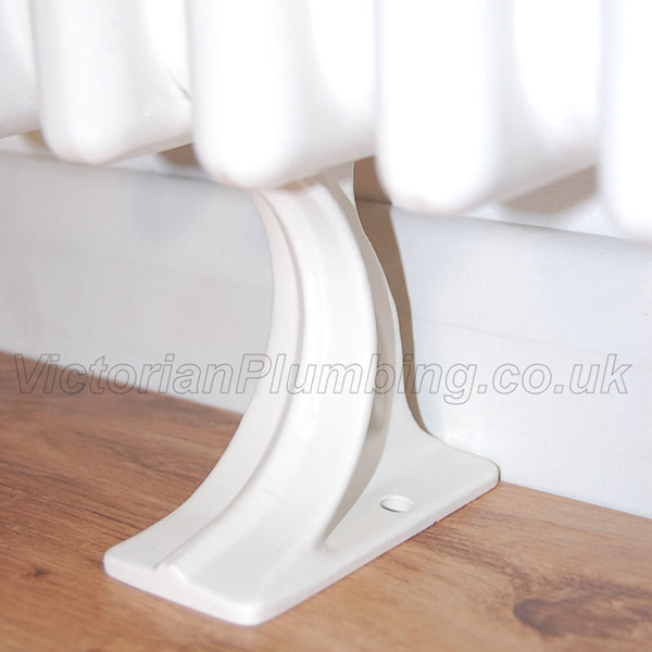 Column Radiator Feet (pair) - White profile large image view 2