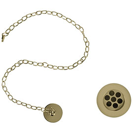 Burlington Gold Basin Plug & Chain - W1-GOLD
