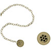 Burlington Gold Basin Plug & Chain - W1-GOLD profile small image view 1