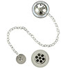 Burlington Nickel Bath Overflow, Plug & Chain - W3-NKL profile small image view 1