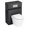 Aqua Cabinets W600 x D300mm Wall Hung WC Unit with Cistern & Flush Plate - Black - W34B profile small image view 1