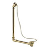 Burlington Gold Exposed Bath Overflow, Plug & Chain - W4-GOLD profile small image view 1