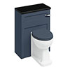 Burlington 60 Back to Wall Unit & Pan (excluding Seat) - Blue profile small image view 1