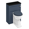 Burlington 60 Back to Wall Unit & Regal Comfort Height Pan (excluding Seat) - Blue profile small image view 1